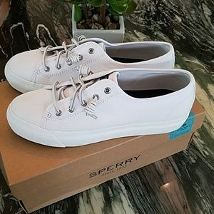 e3d1b1314e Sperry Shoes | Sky Sail Canvas Sneaker In White | Poshmark