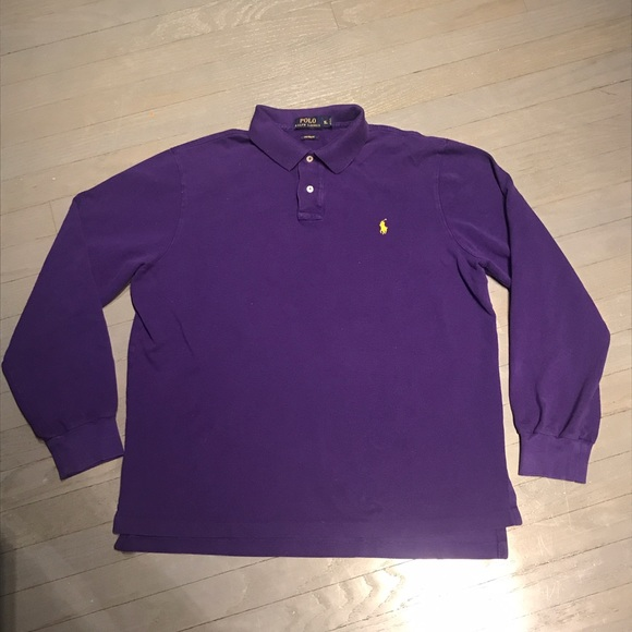 67 off polo by ralph lauren other polo ralph lauren for Long sleeve purple polo shirt