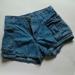 Jordache Pants - Y2K 2000s Jordache light wash denim cargo shorts