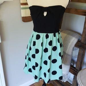 Ruby Rox Dresses & Skirts - Cute Ruby Rox Strapless Polka Dot dress