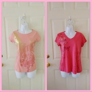 Bundle of Two Pink Shirts, Size S and XS