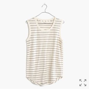 Madewell whisper cotton muscle tank, selby stripe