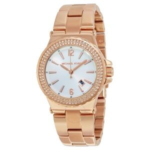 Michael Kors rose gold crystal bracelet watch