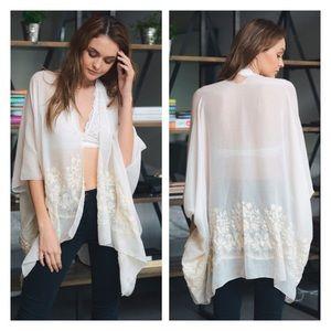 Accessories - Just In- Bohemian Kimono, Floral Kimono
