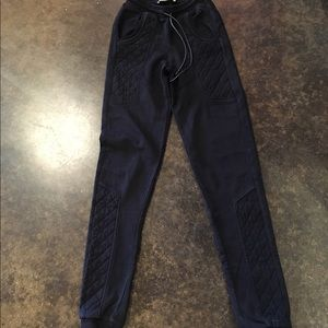 Pierre Balmain Pants - Pierre Balmain black quilted sweatpants 36 0-2
