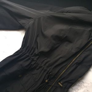 Ava & Viv Jackets & Blazers - Ava & Viv Black Anorak Rain Coat