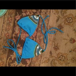 Victoria Secret blue bikini top