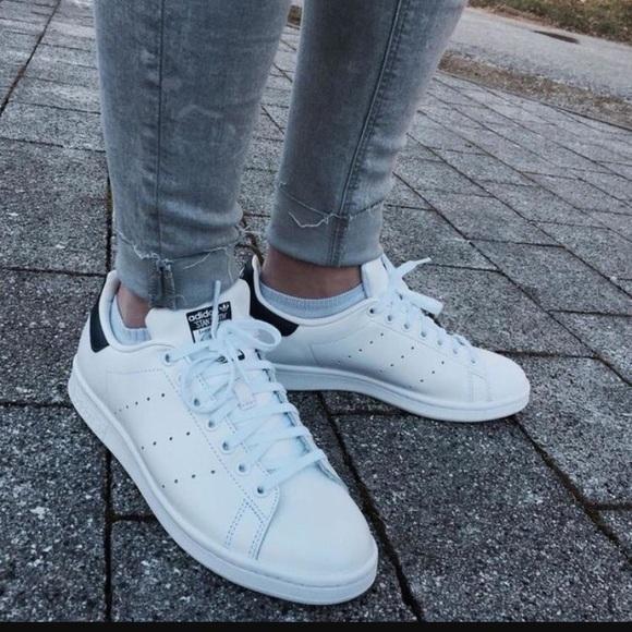adidas Shoes - Adidas Stan Smith White and Black 6741b670ab