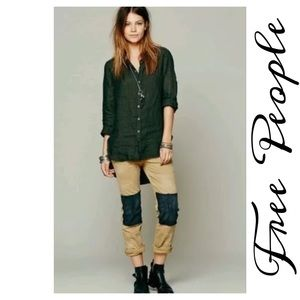 Free People Pants - Free People Twill Knee Patch Caramel Pants Size 4