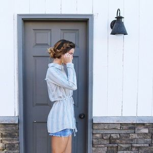 Tops - striped shirt-style tunic
