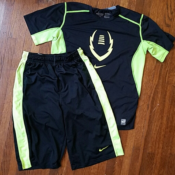 Nike Pro basketball drifit shorts set boys XL