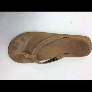 79d0b65675a UGG Kayla Chestnut Leather FlipFlop Sandals NWOB