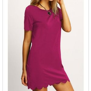 In today! Pink scalloped dress
