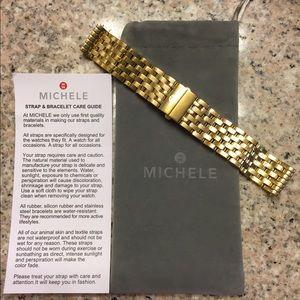 Michele Accessories - Michele gold deco 18mm bracelet
