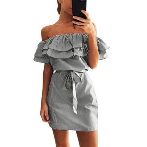 Dresses & Skirts - Ruffle Belted Dress