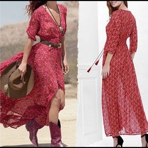 Dresses & Skirts - Red button up maxi 101