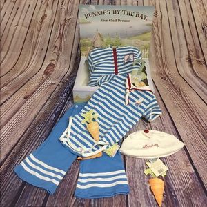 Bunnies by the Bay Other - Bunnies by the bay 6/12 month five piece gift set