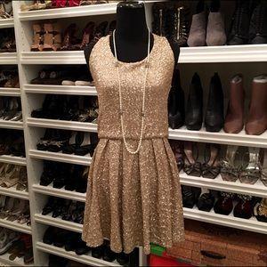 Dresses & Skirts - Gold Sequin Sleeveless Dress NWT