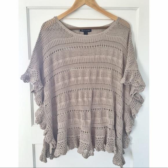 INC International Concepts Sweaters - INC boho open knit sweater