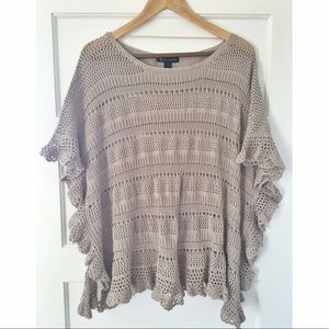 INC boho open knit sweater