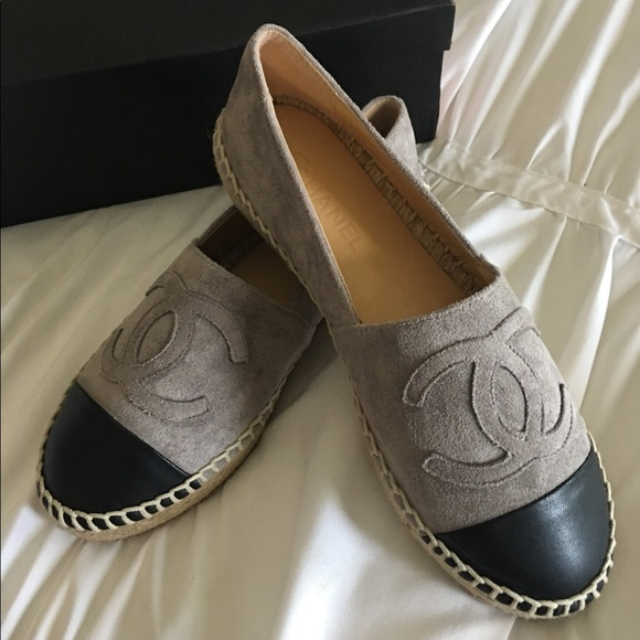 39ca4f6e34c0 CHANEL Shoes - Chanel Espadrille Grey Suede 37