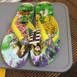 Henri Lloyd Shoes - Henri Bendel rhinestone sandals