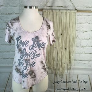 🎁 Juicy Couture    Pink Tie-Dye Blouse
