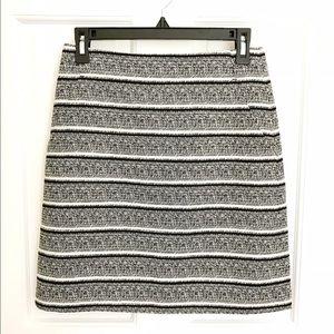 Ann Taylor Dresses & Skirts - Ann Taylor A-line textured stripe skirt
