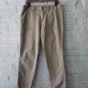 G1 Goods Pants - G1 Goods Army Green Surplus Crop Pants