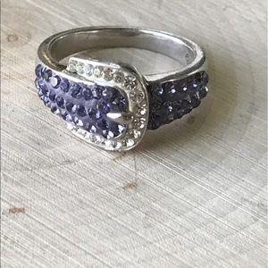 vintage Jewelry - Vintage 925 Sterling silver Austrian crystal ring