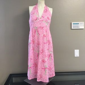 Lilly Pulitzer Pink Lily Halter Dress