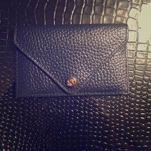 Dagne Dover Accessories - Brand New - Navy Blue Leather Card Holder