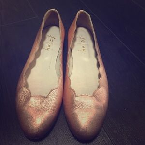 fs/ny Shoes - Rose Gold ballerina shoes
