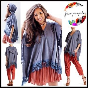 FREE PEOPLE Hoodie Pullover Poncho