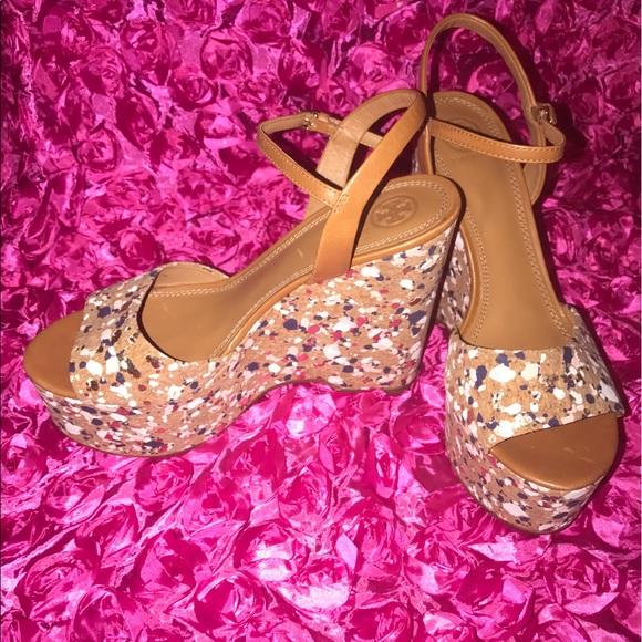 cb66c414dddf Tory Burch Shoes - tory burch Solana Confetti Platform Wedge Sandal