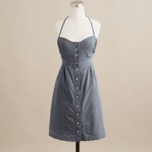 Chambray Strapless Dress