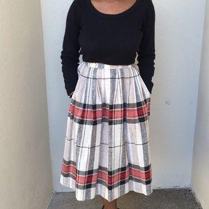 Dresses & Skirts - Plaid, Pleated vintage skirt