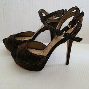 dd014f4d43b8 Sam Edelman Shoes - NEW SAM EDELMAN NADINE LEOPARD PRINT SANDALS
