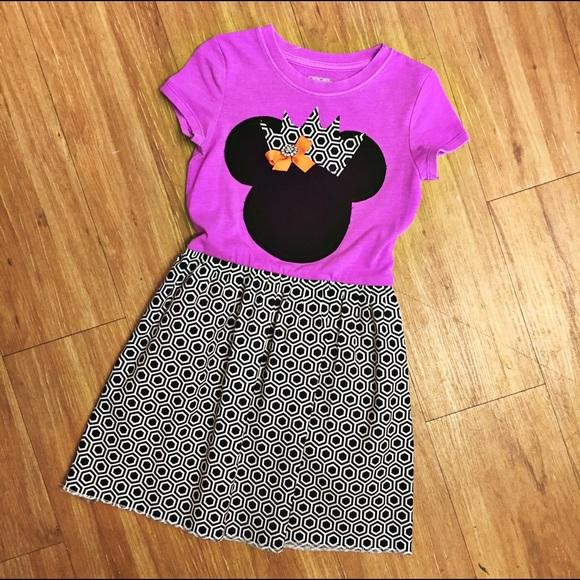 Handmade Dresses Minnie Mouse Purple Black White Dress 4 5 Poshmark