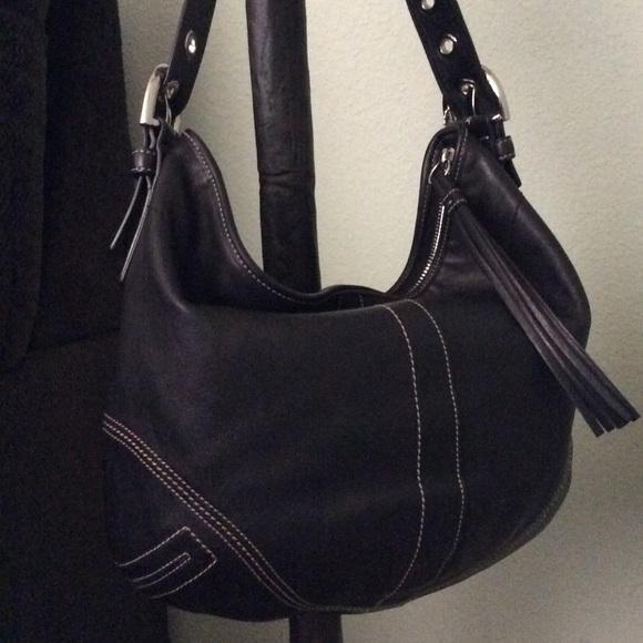b3d2f2af26 Coach Handbags - Coach Soho Leather Tassel Hobo Bag. Black.