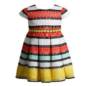 Youngland Other - Youngland Colorful Crochet Lace Toddler Dress NWT