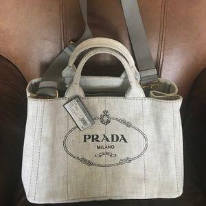 84bfc336c6ad5e australia prada pvc tote bag prada nwt tags bag grey denim. 100 authentic  9773d 99e99