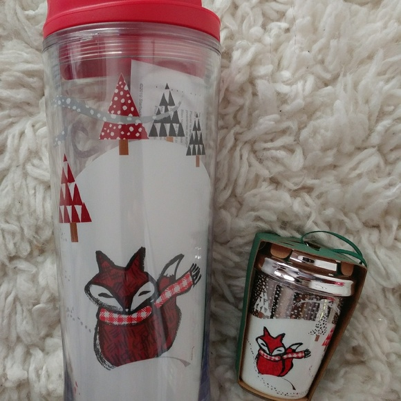 Starbucks Other 2016 Christmas Fox Tumbler And Ornament