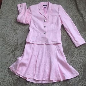 CHAPS Pink Skirt Suit