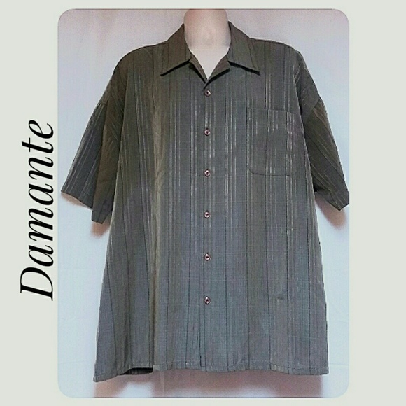 DaMante Other - Big Man's Striped Iridescent Casual Shirt Size 2X
