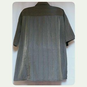 DaMante Shirts - Big Man's Striped Iridescent Casual Shirt Size 2X