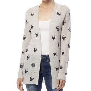 360 Cashmere Sweaters - 360CASHMERE VICTORIA - SHITAKE/BLACK PRINT