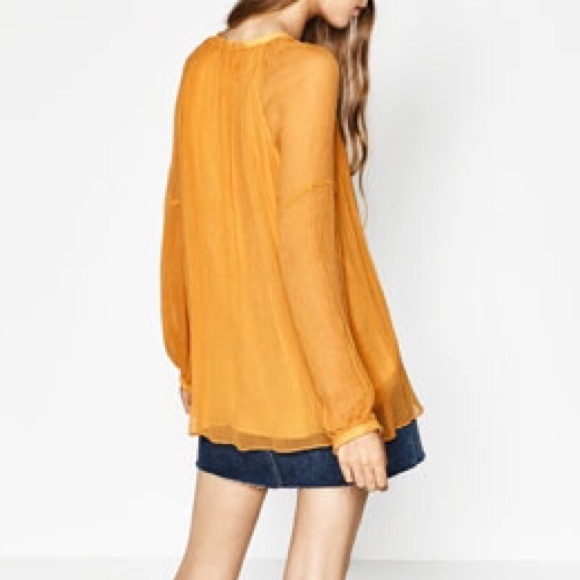 Zara Yellow Blouse 3