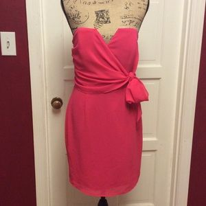 Adelyn Rae Dresses & Skirts - Strapless flirty Adelyn Rae pink dress used once
