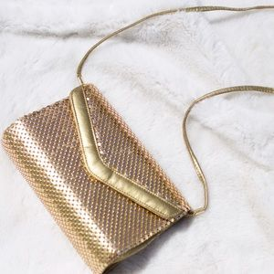 ✨ Vintage Gold Metal Mesh Purse